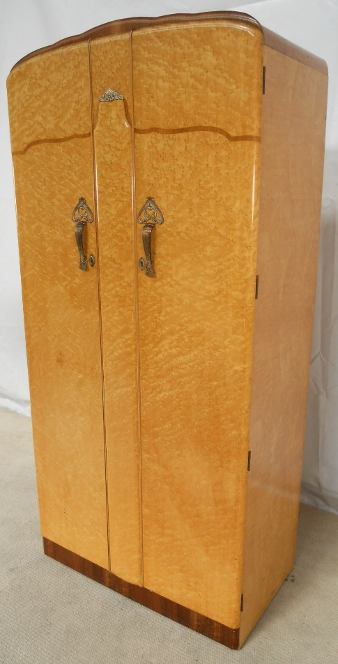 Small Blond Maple Wood Wardrobe Sold